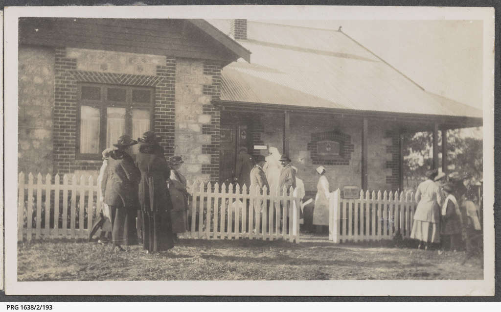 People gathering at a house