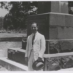 Keith Smith at the Fannie Bay memorial