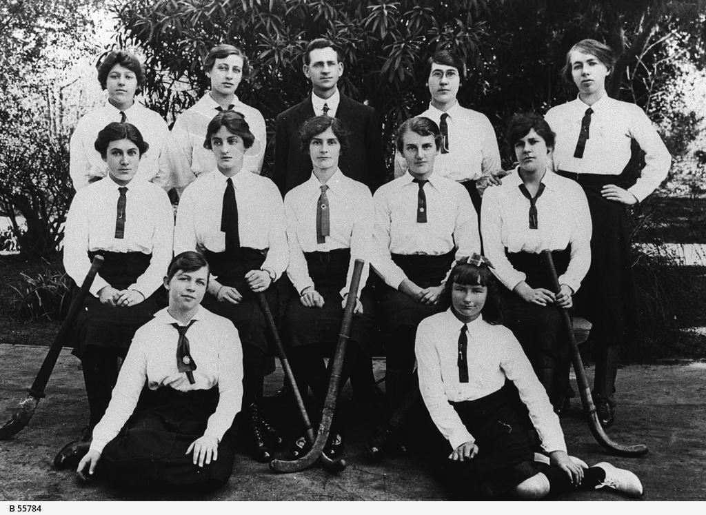 Members of the Aroha women's hockey team