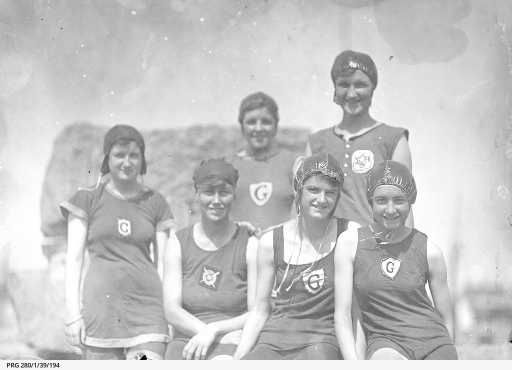 Girl swimmers at Henley Beach