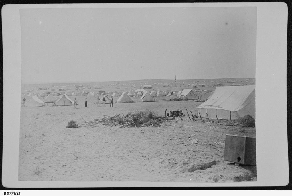 Tents at the Teetulpa gold field
