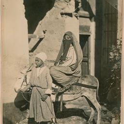 A woman on a donkey