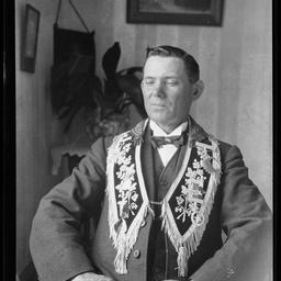 William Davis in Lodge regalia