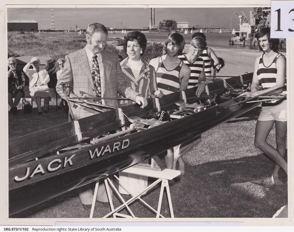 Christening the tub 'Jack Ward'