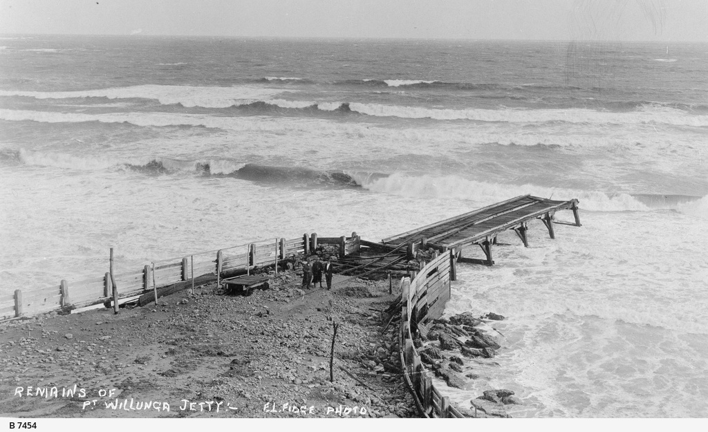 Port willunga jetty photograph state library of south for Port willunga