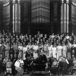 Choir and orchestra in Adelaide Town Hall