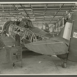 CAC Wirraway under construction.