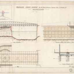 Drawings of the proposed Swing Bridge for the South Australian Company's Dock, Port Adelaide
