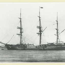 The 'Windsor Castle' moored in an unidentified port