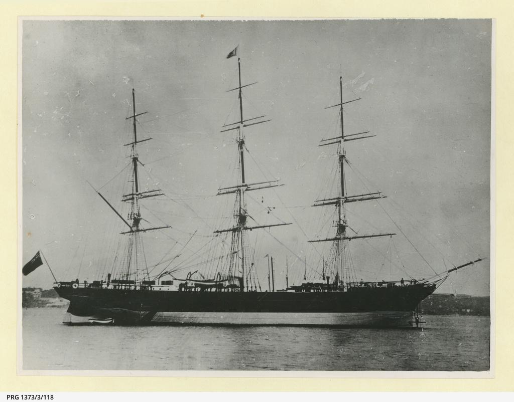 The 'Cimba' at anchor