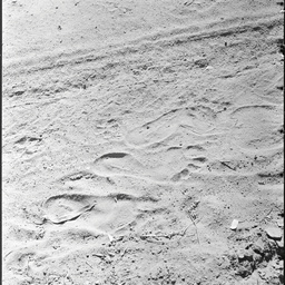 Aboriginal footprint in sand
