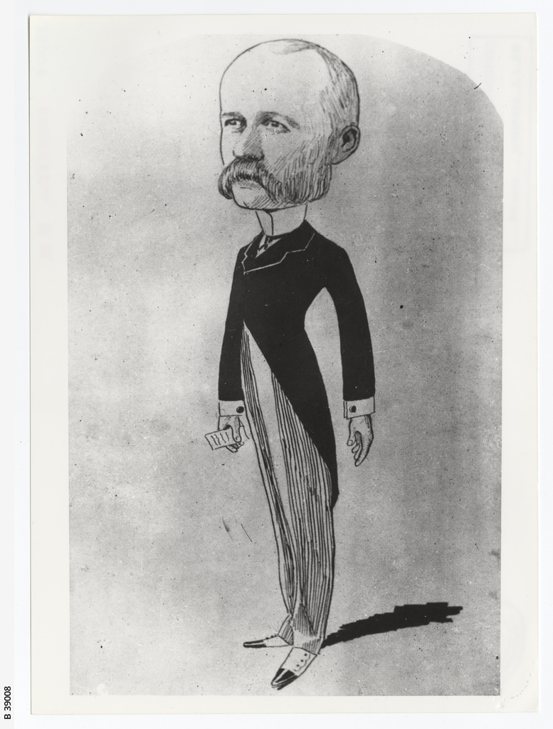 Caricature of H. W. Uffindell