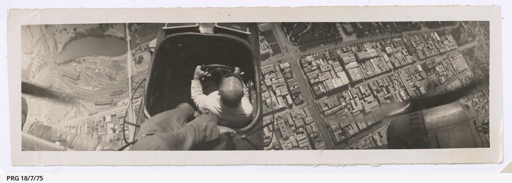 Ross Smith flying over Adelaide