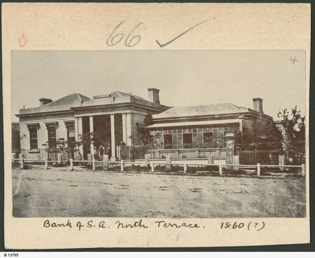 Bank of South Australia, North Terrace, West