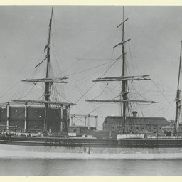 The 'Scythia' docked in an unidentified port