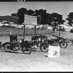 Display of motor cycles at the Mount Gambier showground