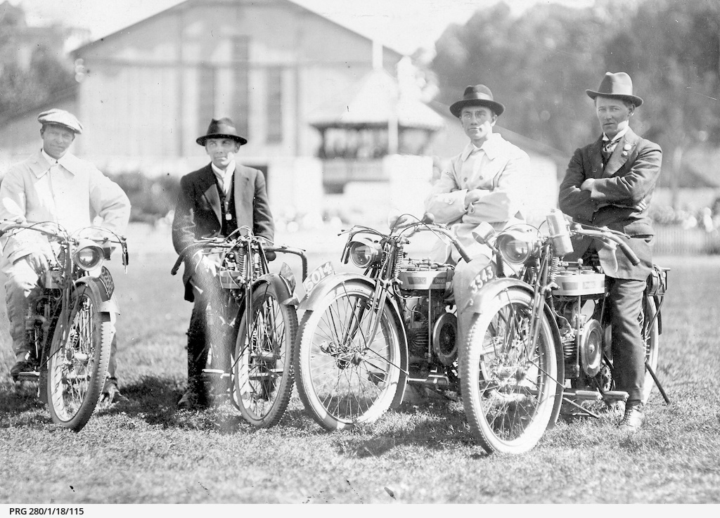 Four motor-cyclists in Adelaide