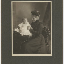 Alexander Hay with his grandmother, Agnes G. Hay