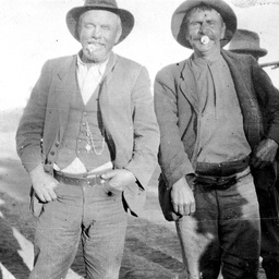 Two men, possibly drovers in Central Australia