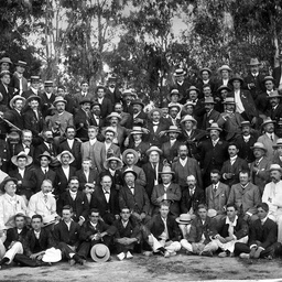 Staff of the Adelaide Steamship Company on a picnic