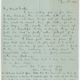Letter from Ross Smith in Egypt camp during World War I to his mother, and Battle of Maghdaba clipping