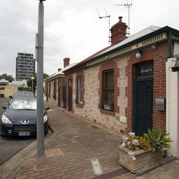Cottages on Wakeham Street, Adelaide.