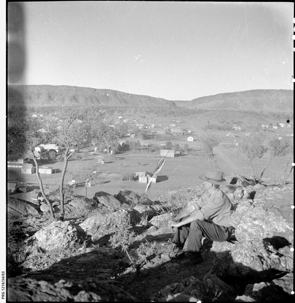 TGH Strehlow overlooking Alice Springs