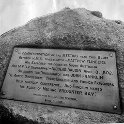 The Matthew Flinders and Nicolas Baudin tablet