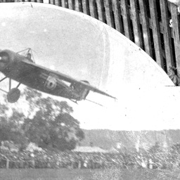 Harry Butler flying his aircraft over Unley Oval
