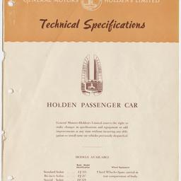 Holden Passenger car, October 1953.