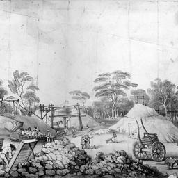 Miners working at Kapunda mine