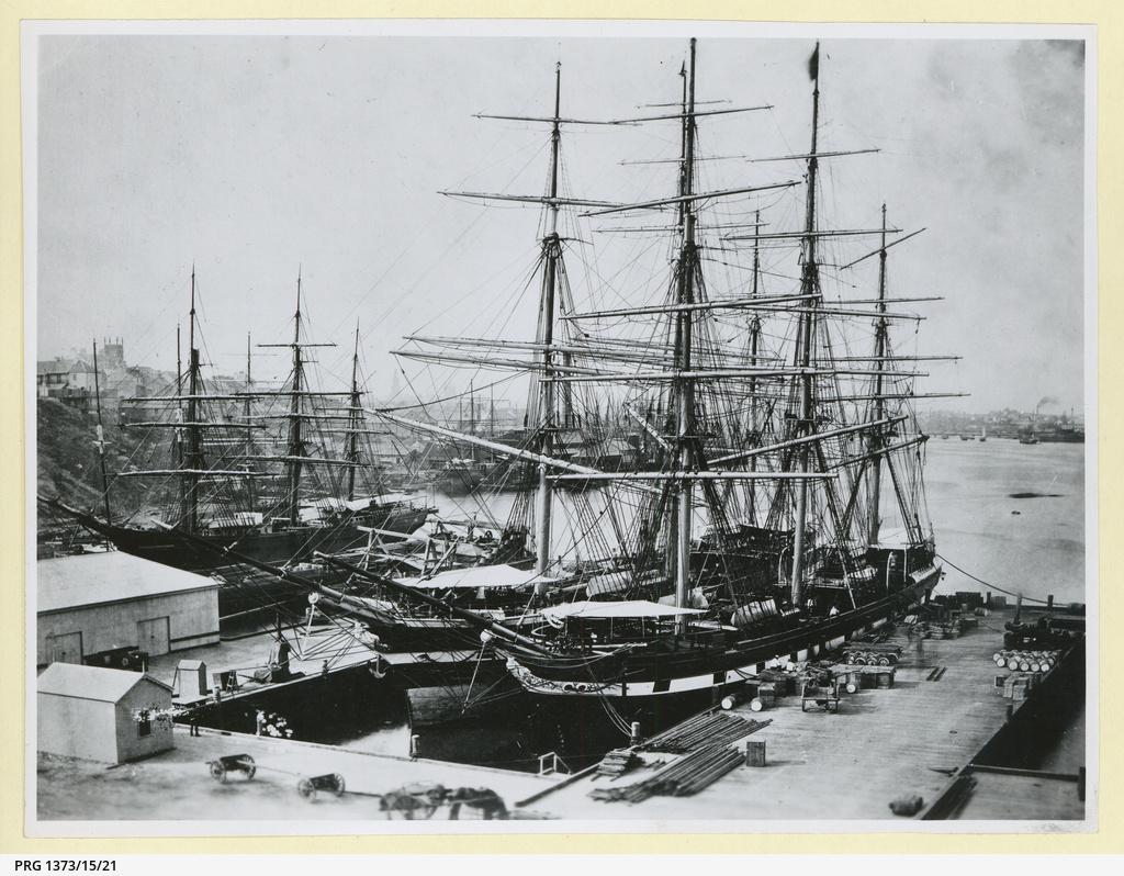 The 'Loch Fyne' docked in Sydney