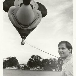 Photographs relating to Messenger Press : gliders, balloons and hovercraft