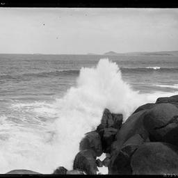 Wave crashing.