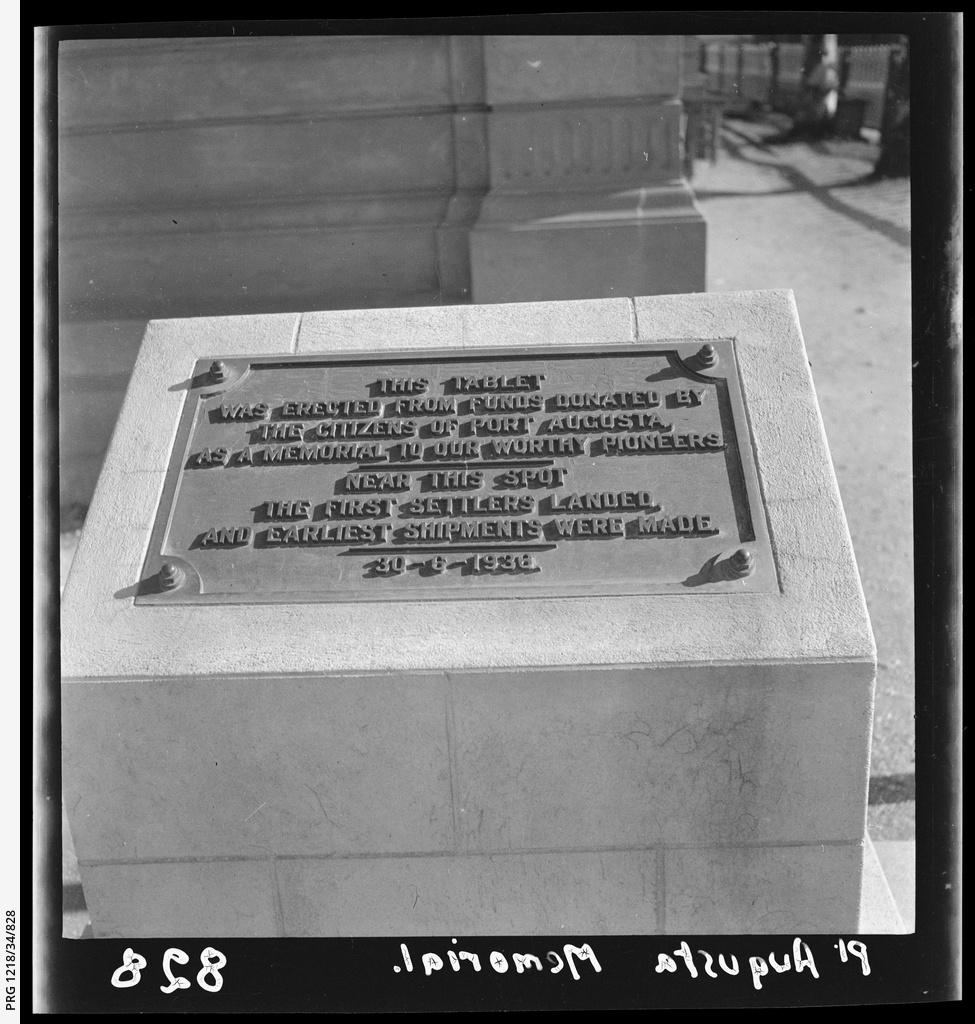 Port Augusta pioneer memorial