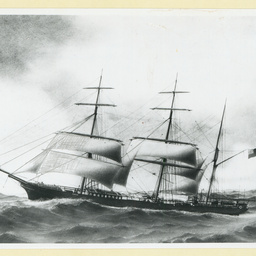 The 'Auriga' under sail