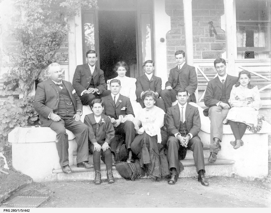 Louis Victorsen of Clare with his family