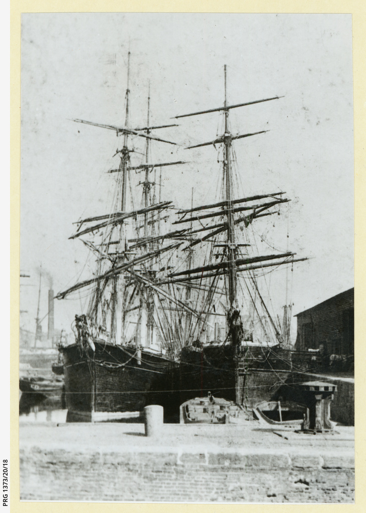Two unknown barques at London
