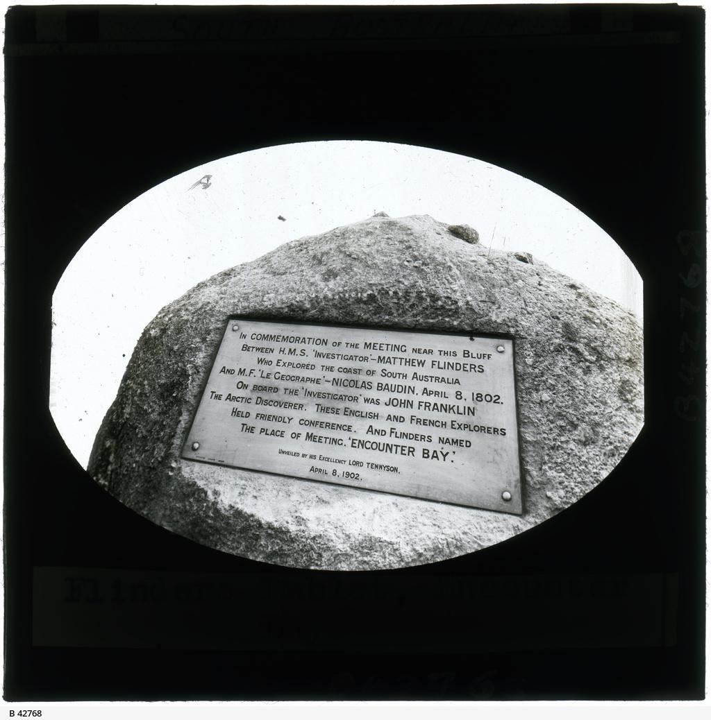 Flinders Tablet, Encounter Bay