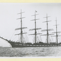 The 'Liverpool' anchored in an unidentified harbour