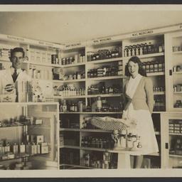 Interior of Burge's Chemist shop