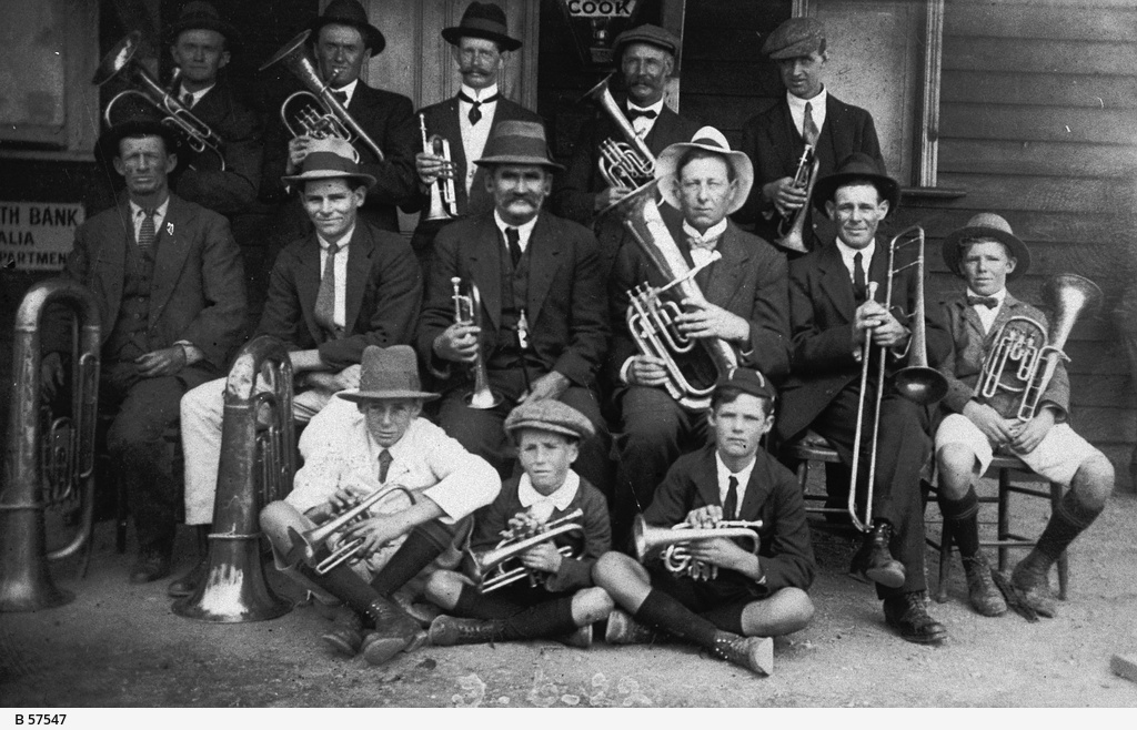 Members of the Commonwealth Brass Band