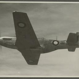 CA-17 A68-34 Mustang in flight.