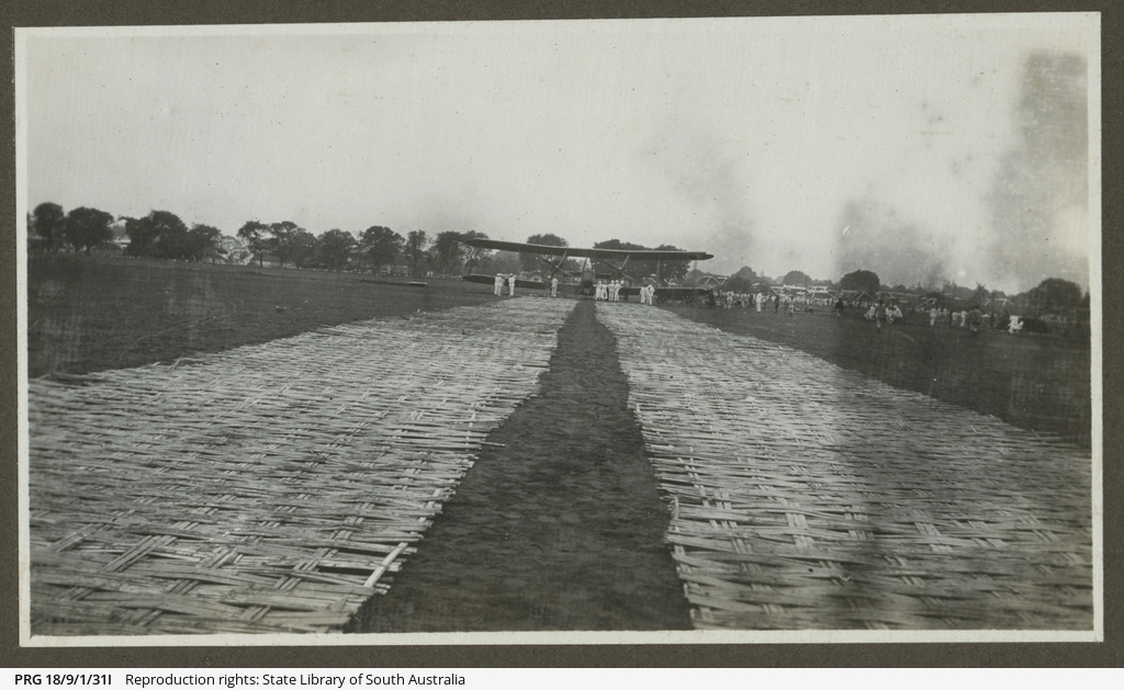 Vickers Vimy on bamboo runway.