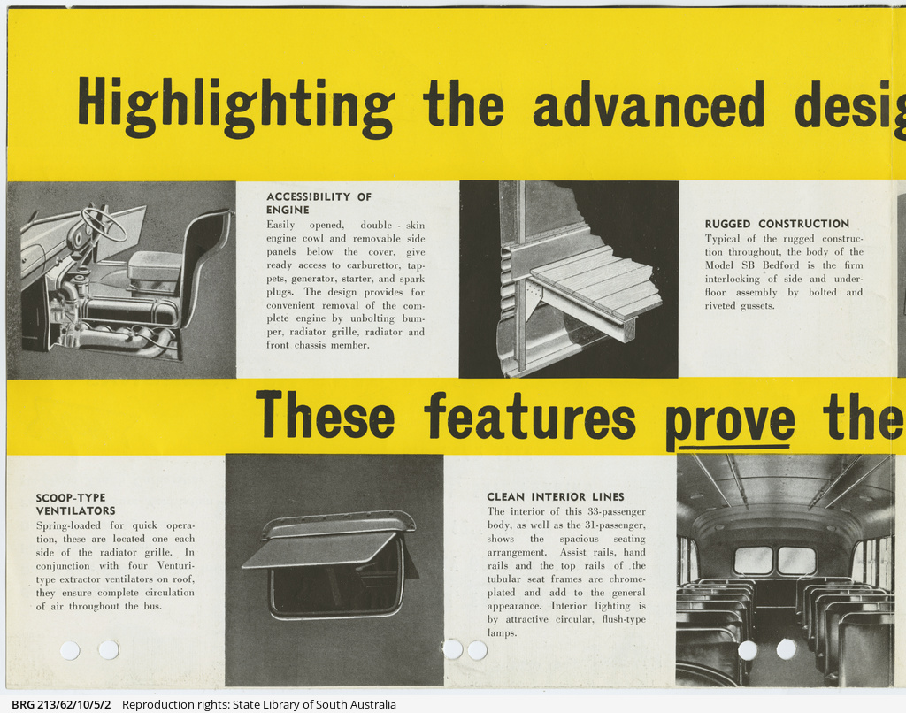 Bedford SB transit bus brochure • Manuscript • State Library