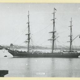 The 'Highflyer' moored at Gravesend, U.K.