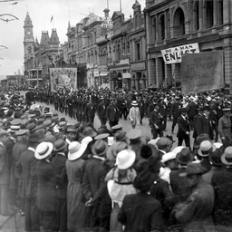 Trade union procession, Adelaide