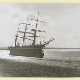 The 'Prince Rupert' after being stranded