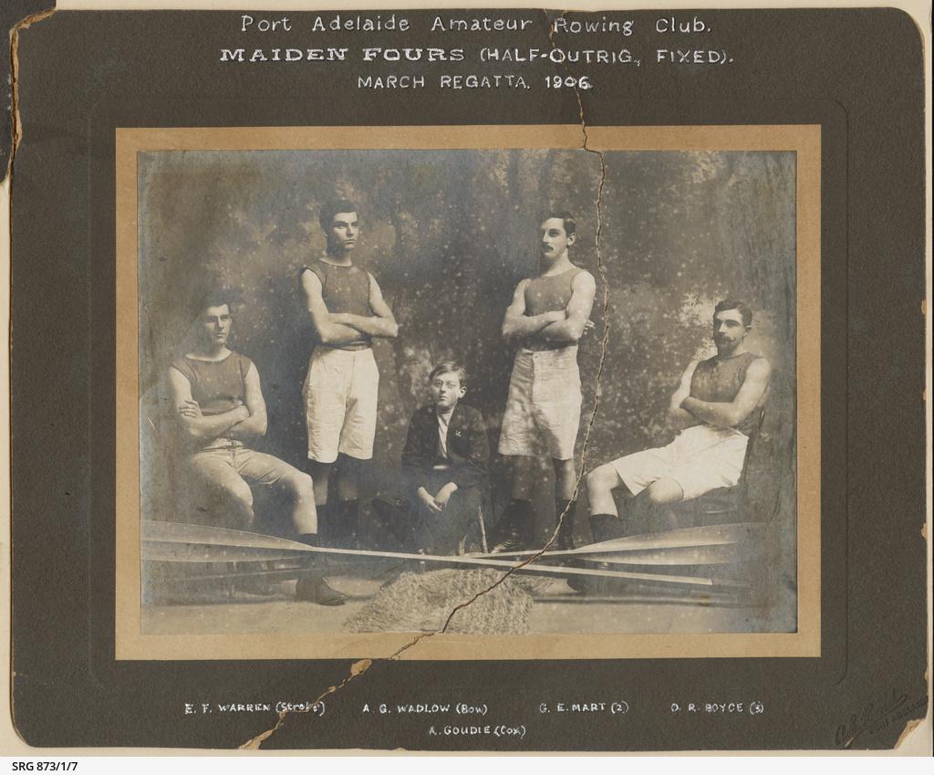 Port Adelaide Rowing Club Maiden Fours, March Regatta 1906