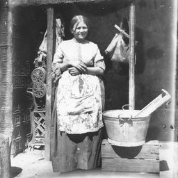 Woman on washing day